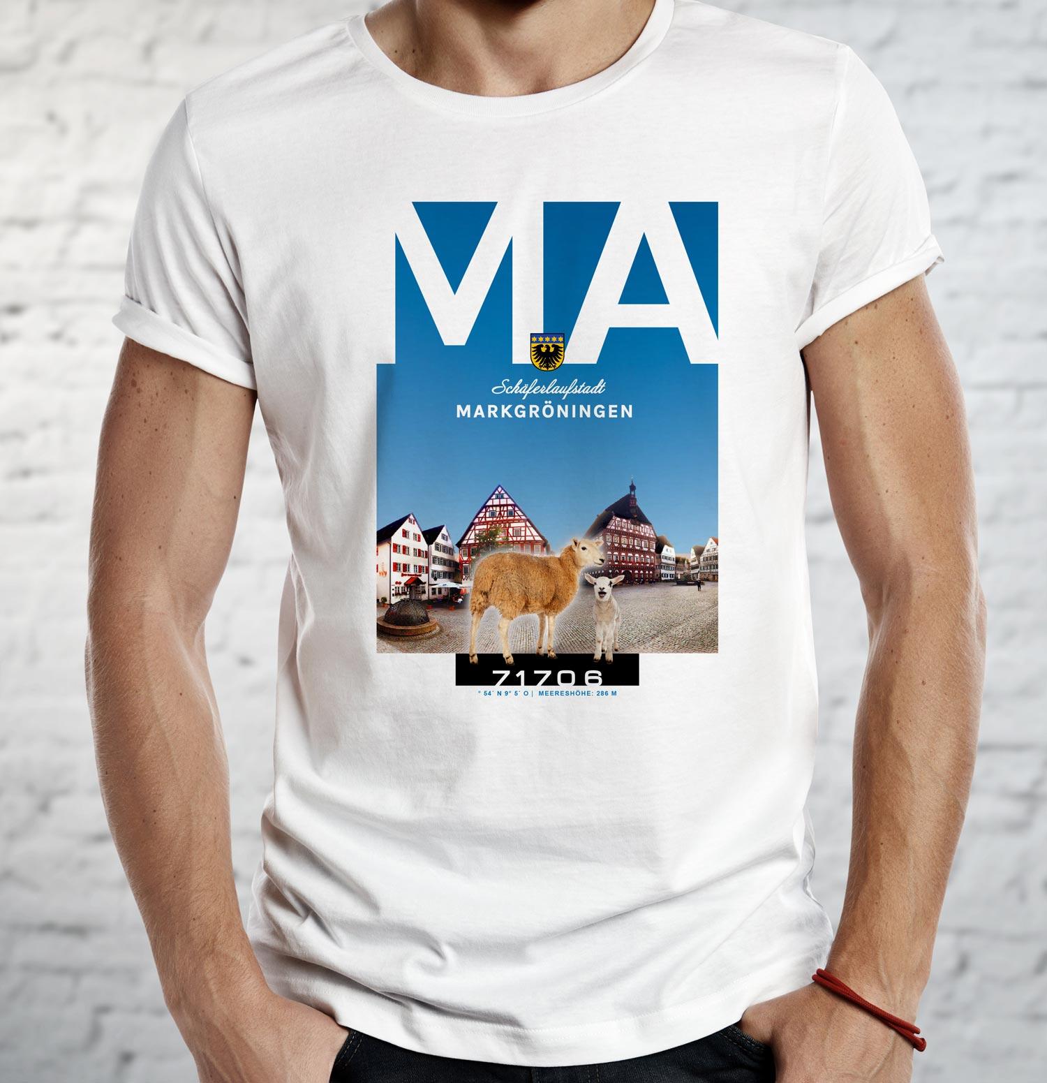 Markgröningen Shirt mit Schäferlauf.