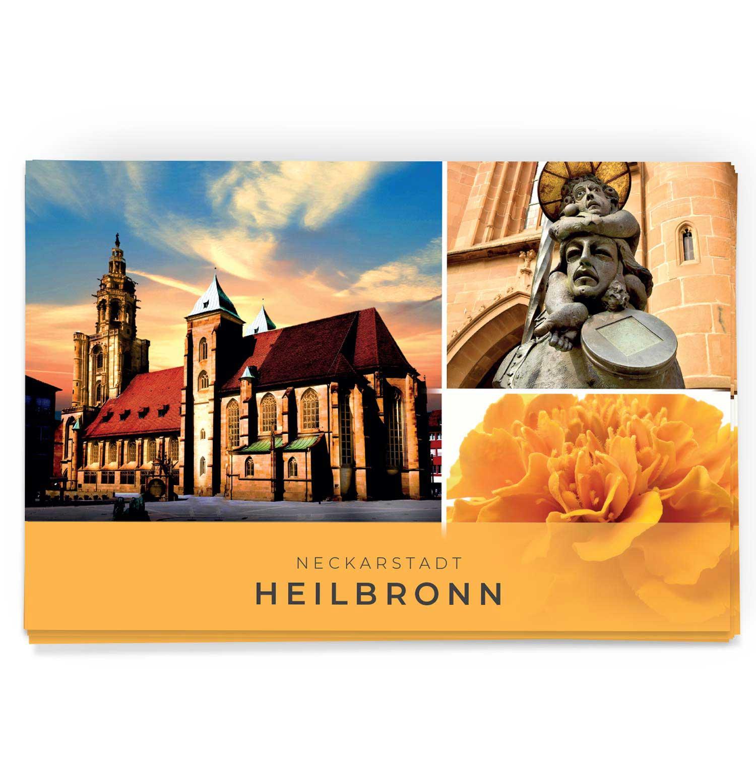 Schöne Heilbronn Postkarte mit der Kilianskirche