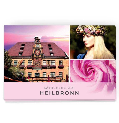 Schöne Postkarte von der Kätchenstadt Heilbronn und dem Heilbronner Rathaus