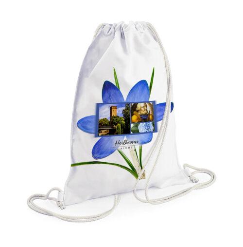 Schöner Heilbronn Rucksack mit Blumenmotiv und dem Götzenturm