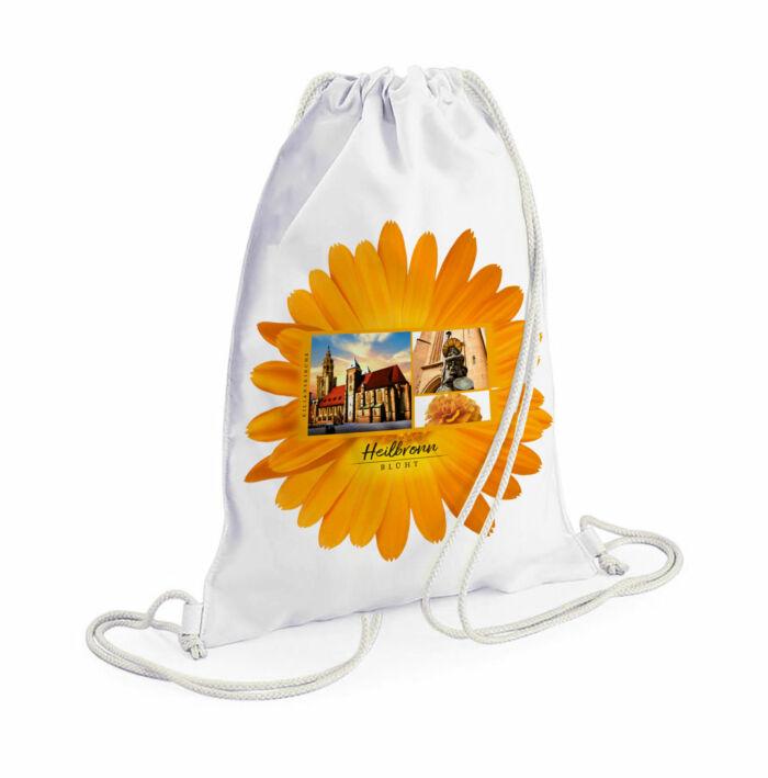 Schöner Heilbronn Rucksack mit Blumenmotiv und Kilianskirche