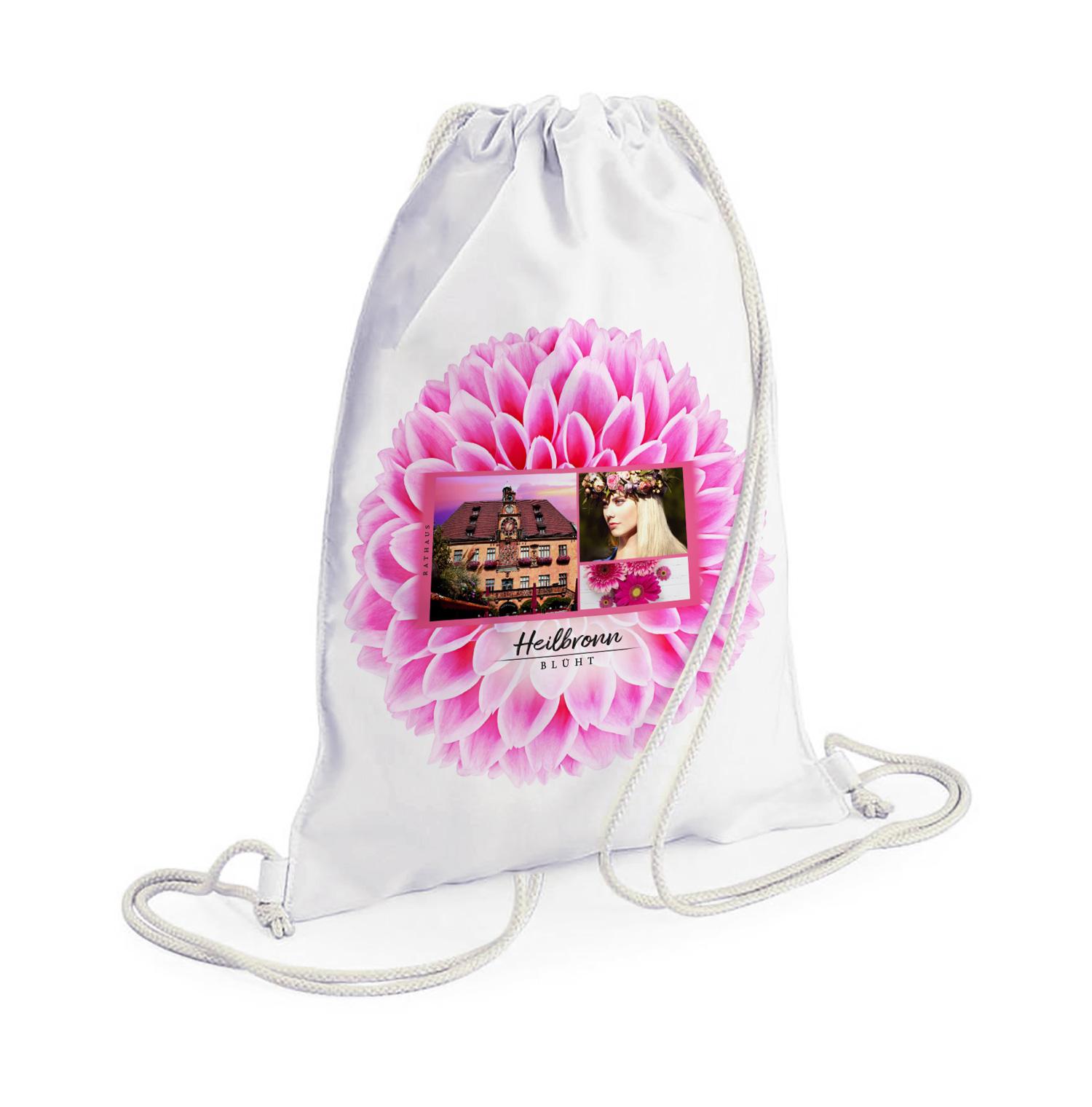 Schöner Heilbronn Rucksack mit Blumenmotiv