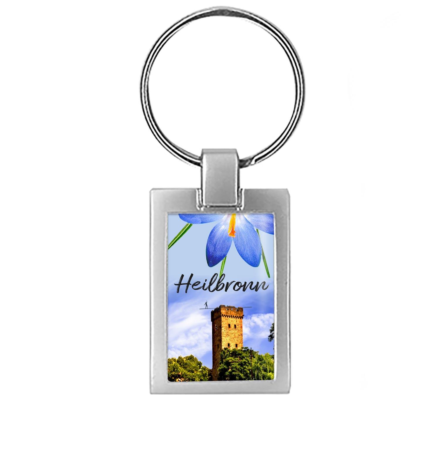 Schlüsselanhänger Heilbronn mit dem Götzenturm.