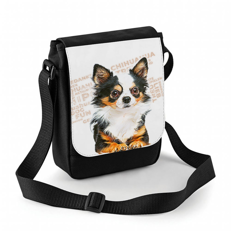 Chihuahua Tasche mit Hundemotiv und Namen