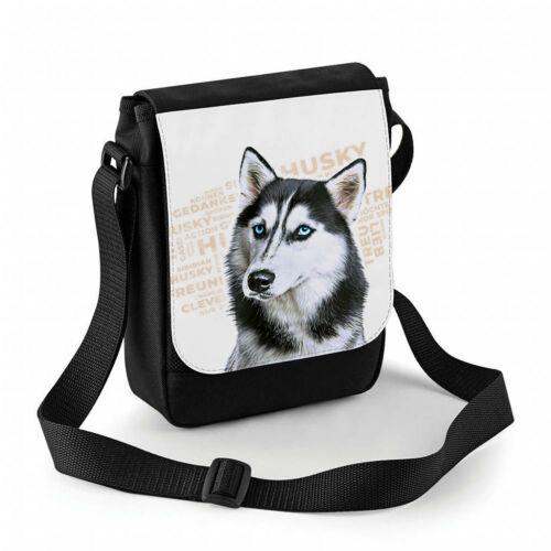 Hundetasche Husky, Gassitasche personalisierbar