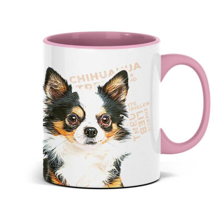 Persolnalisierte Chihuahua Tasse mit Hundemotiv und Namen