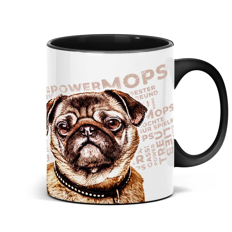 Mops Tasse mit Hundemotiv, Mug Pug