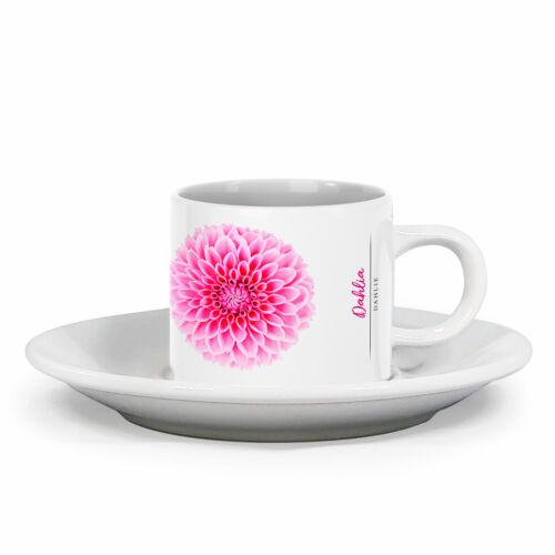 Espressotasse Dahlie mit Blumendesign im Vintage Look