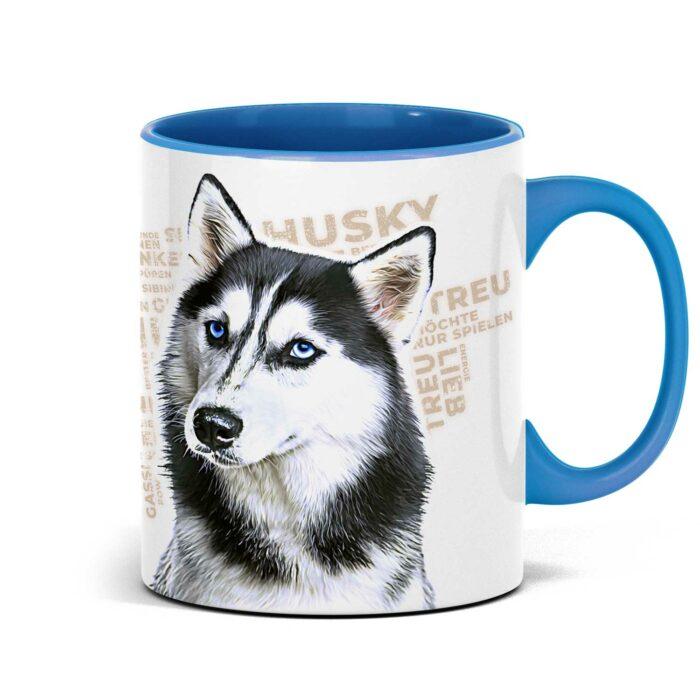 Husky Tasse mit Hundemotiv