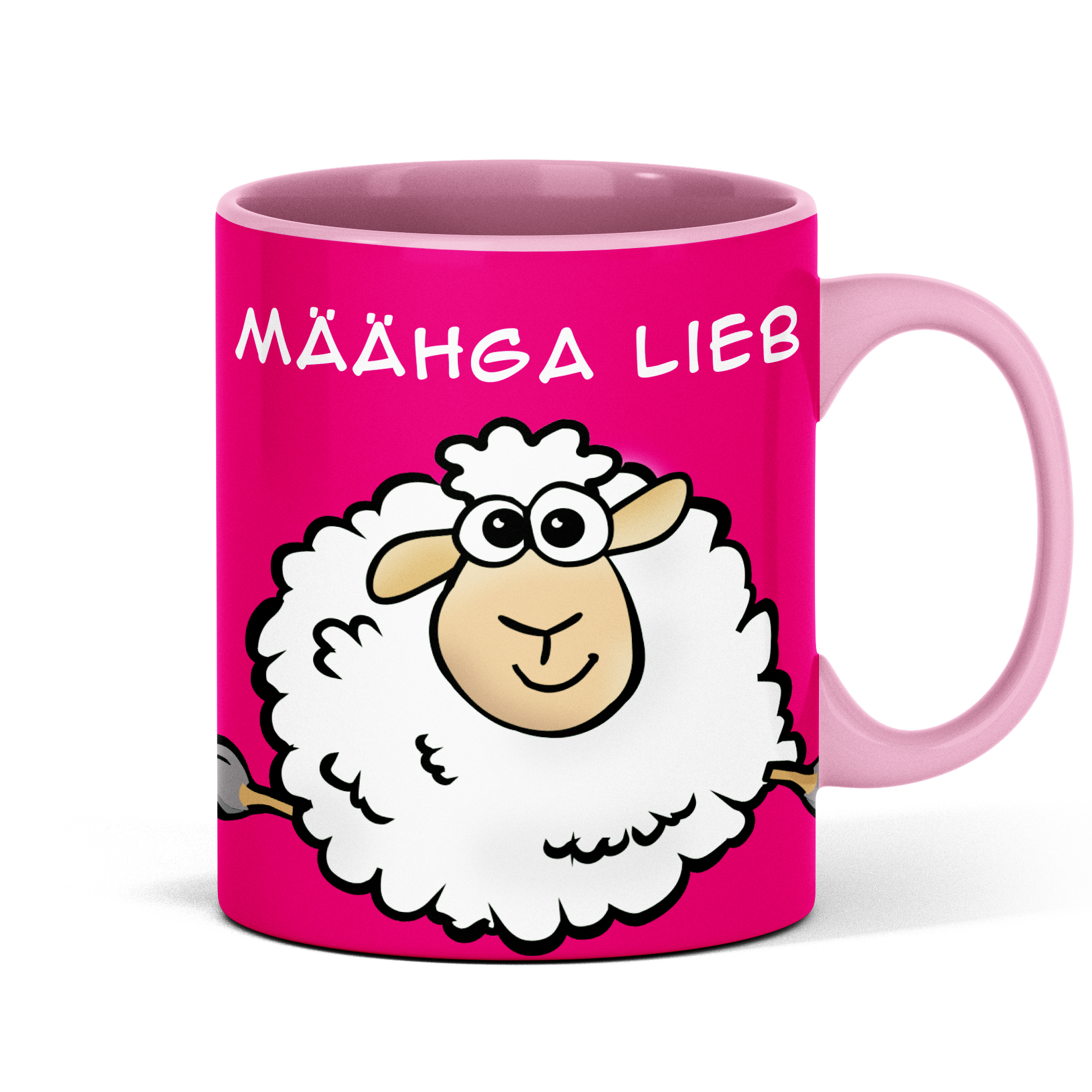 Schaf Tasse mit lustigem Spruch Schafmotiv Geschenk für Büro Kollegin Mann Freund Freundin Schafliebhaber