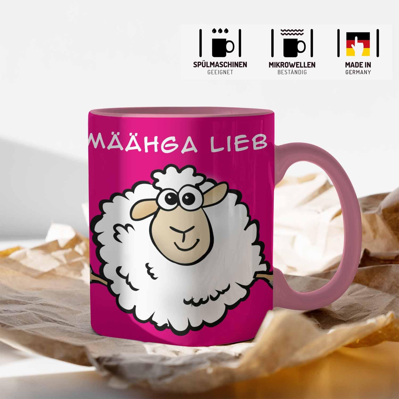 Schaf Tasse mit lustigem Spruch