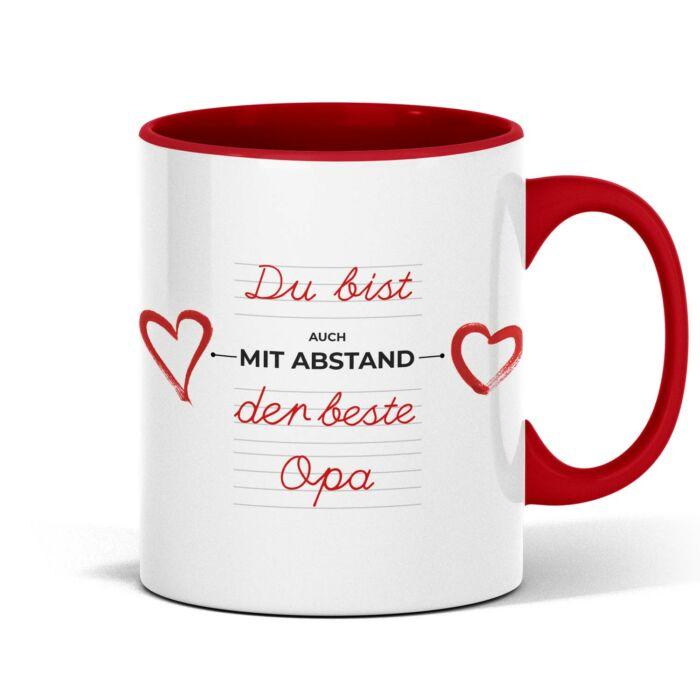 Individuelle Tasse um schöne Weihnachtsgrüße zu senden. Einfach ein schönes Weihnachtsgeschenk.