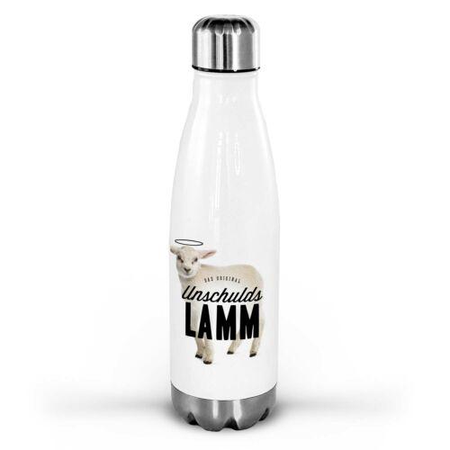 INDIVIDUALISIERBARE GESCHENKIDEE: Die Thermosflasche aus hochwertigem Edelstahl mit Schafmotiv.