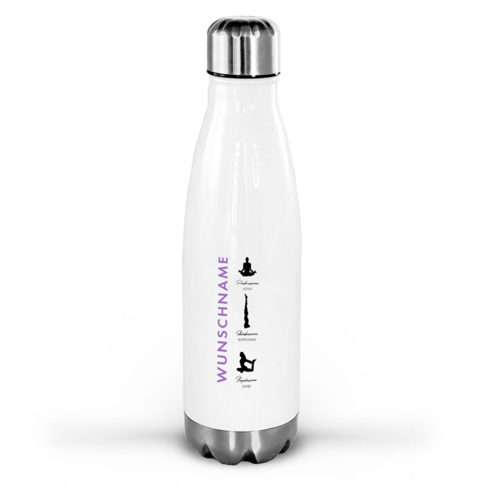 Yoga Trinkflasche personalisierbar mit Mandala Motiv.