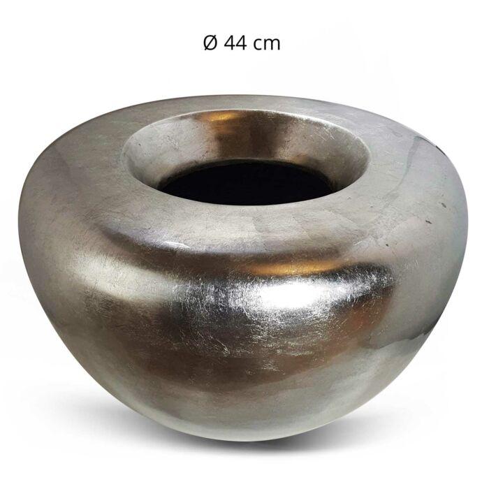 Bambustopf Silber