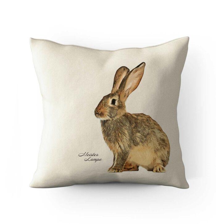 Schönes Kissen mit Hasenmotiv. Einfach ein schönes Geschenk.